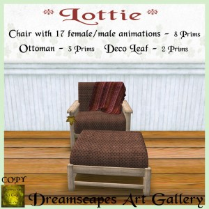 _Lottie_ Chair & Ottoman - Chestnut - Dreamscapes Art Gallery