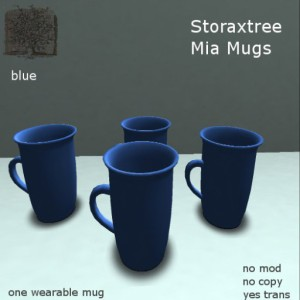 STORAXTREE-MIA MUGS-BLUE